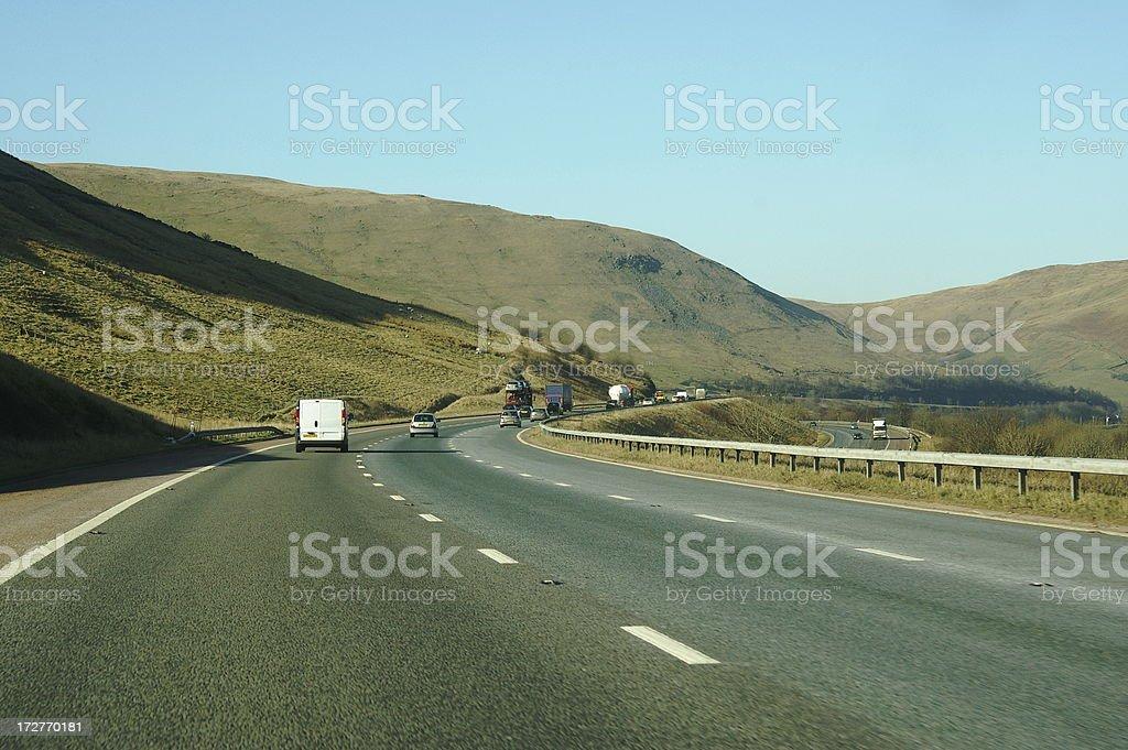 Motorway through the hills royalty-free stock photo