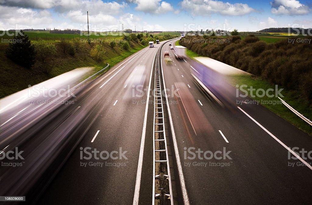 Motorway traffic stock photo