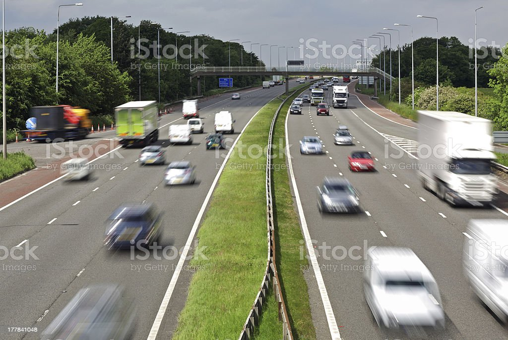 Motorway traffic royalty-free stock photo