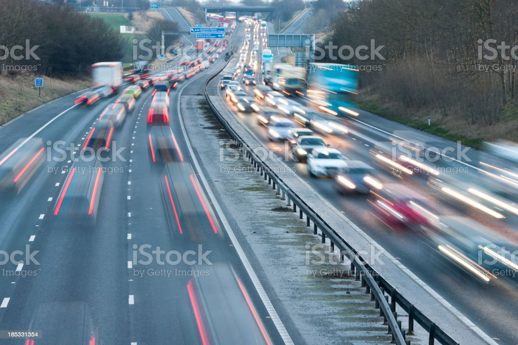Motorway Traffic stock photo