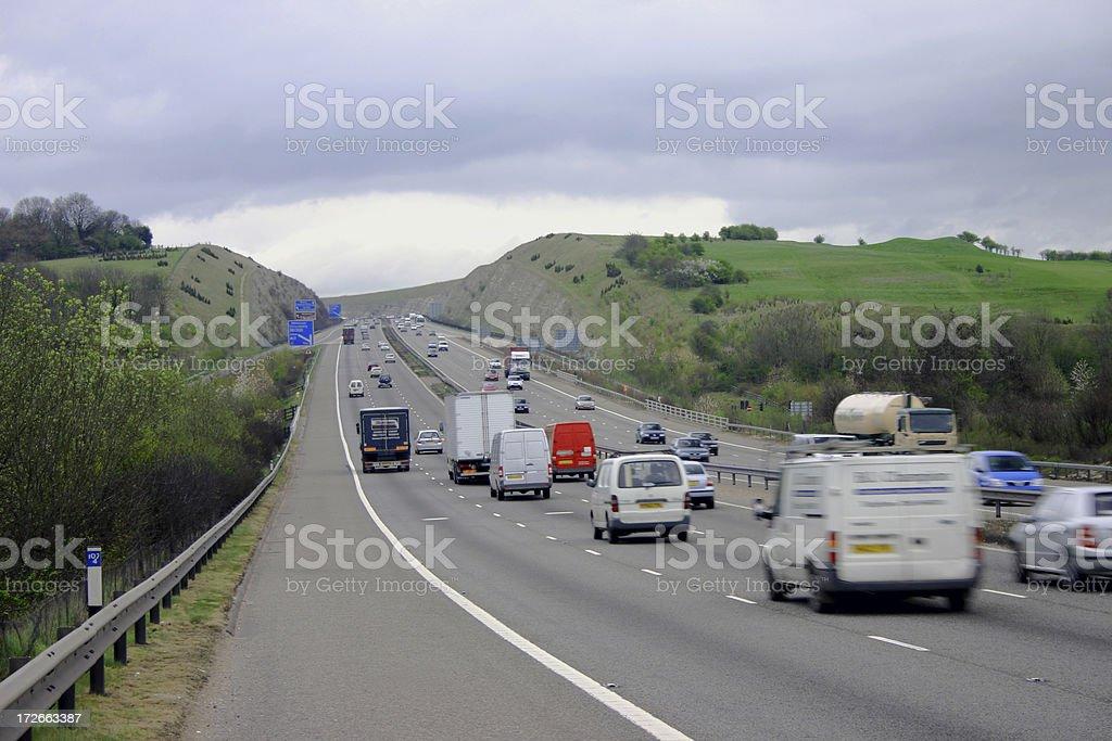 Motorway/Freeway royalty-free stock photo