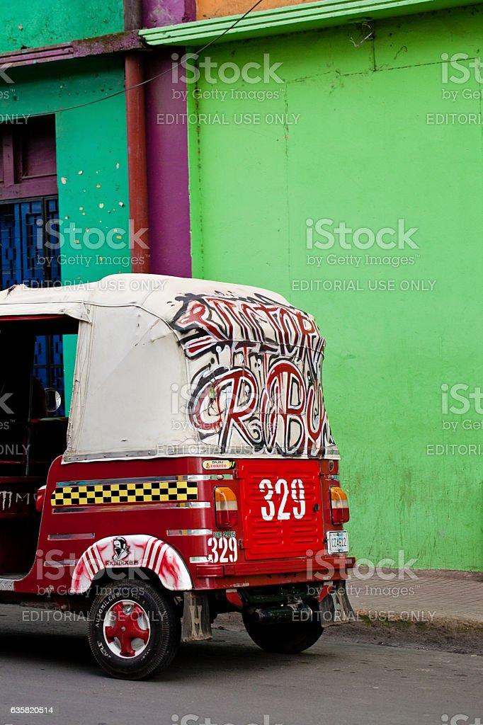 Mototaxi in Nicaragua stock photo