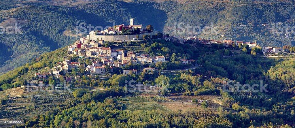 Motovun in Istria, Croatia royalty-free stock photo