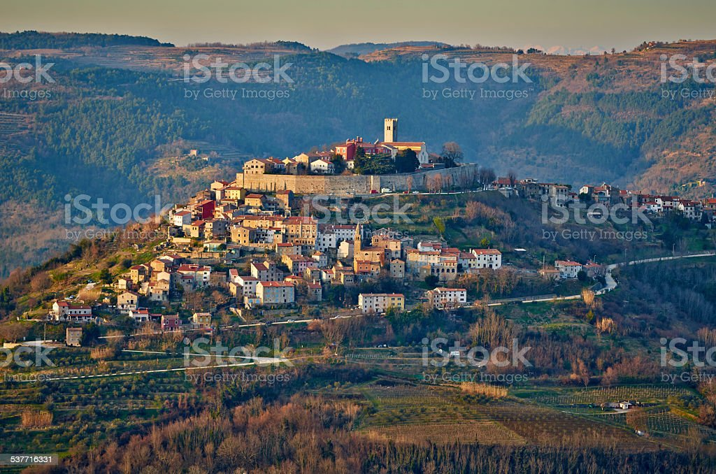 Motovun - Small Town on the hill stock photo