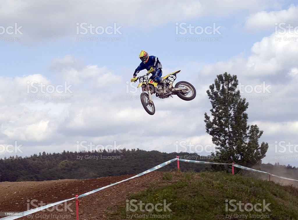 motoX Jump stock photo