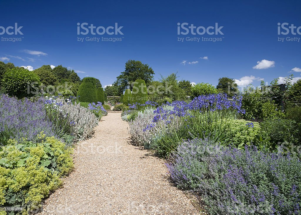 Mottisfont Abbey Garden stock photo