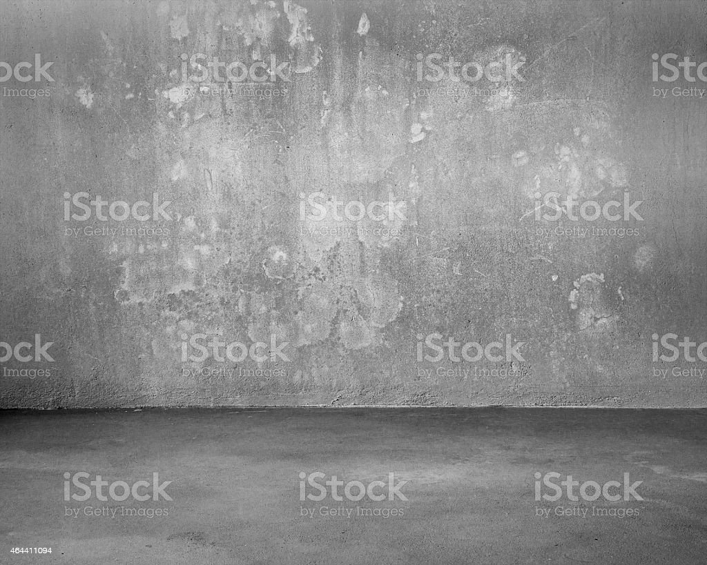 Mottled concrete room for background stock photo