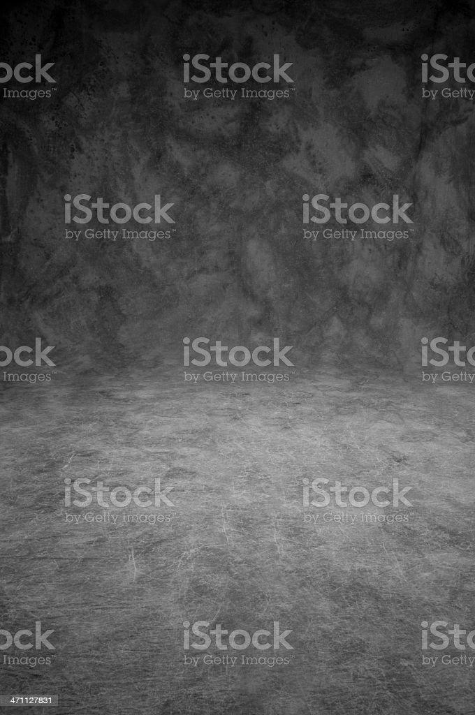 Mottled grey canvas studio background sweep stock photo