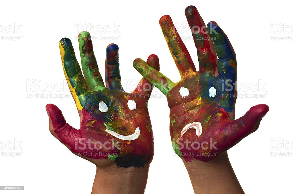 mottled hands stock photo
