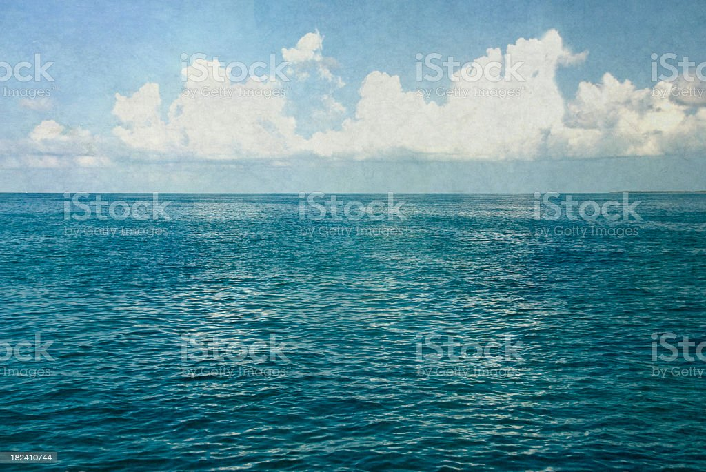 Mottled Ocean Landscape royalty-free stock photo