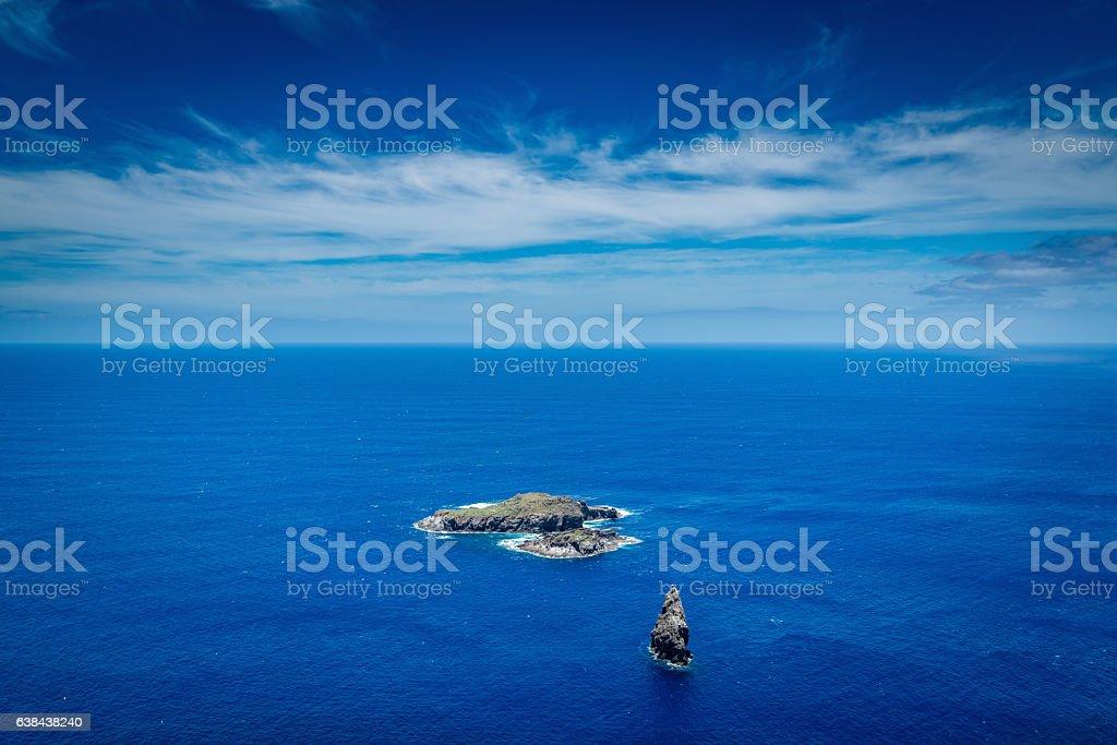 Motu Nui Bird Island Easter Island Rapa Nui Chile stock photo