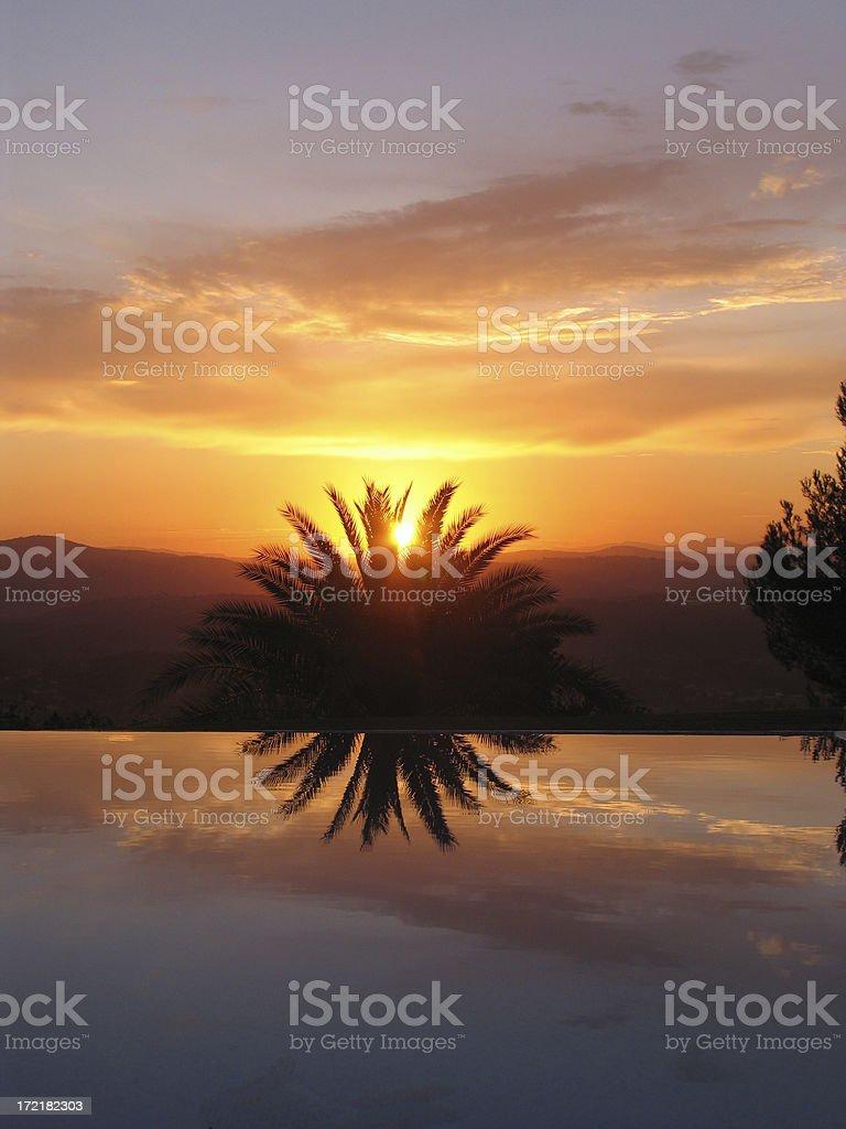 Mougins sunset stock photo