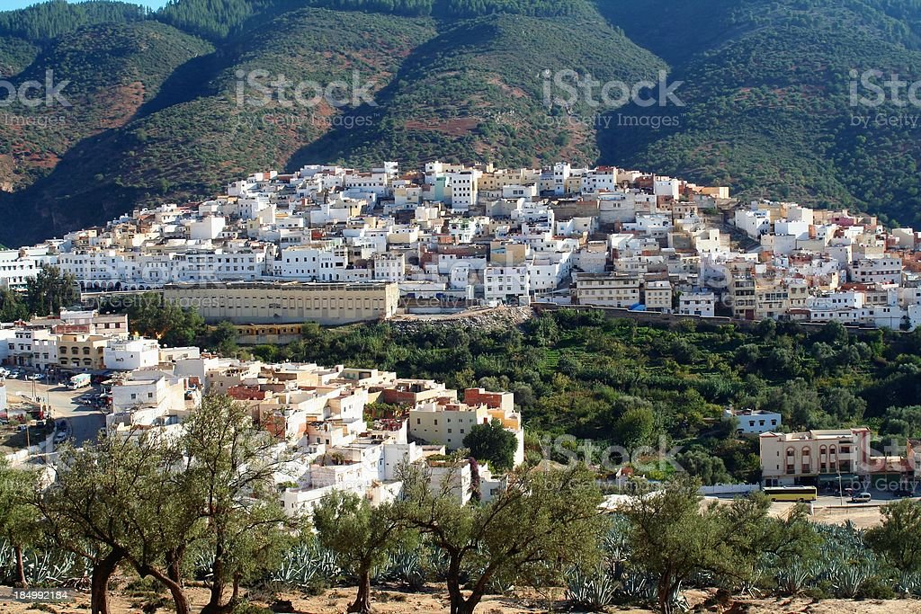 Moulay Idriss - Moroccan holy town. stock photo