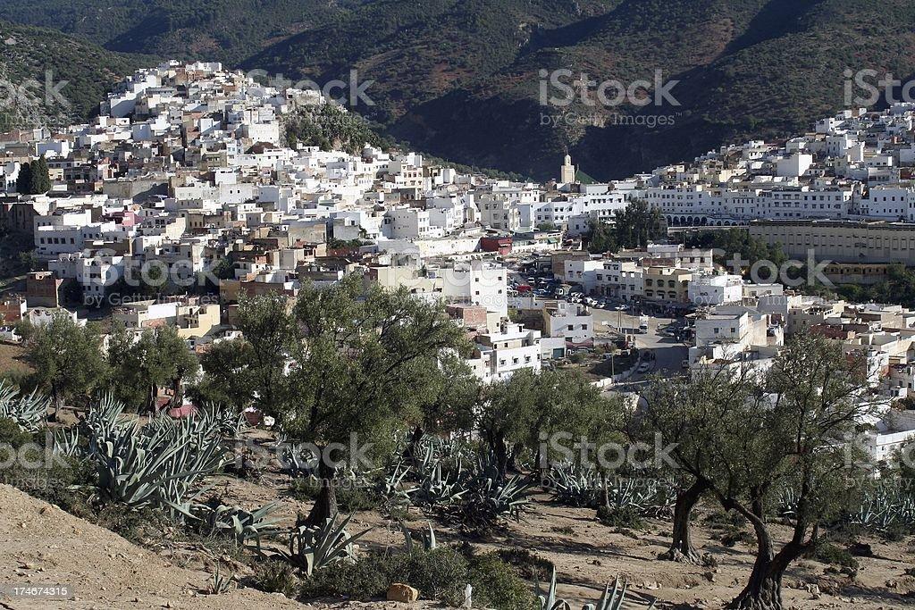 Moulay Idriss, Morocco. stock photo