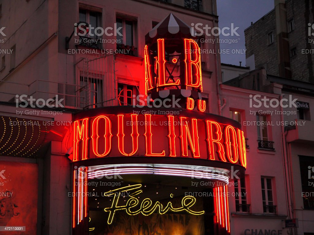 Moulin Rouge in Paris royalty-free stock photo