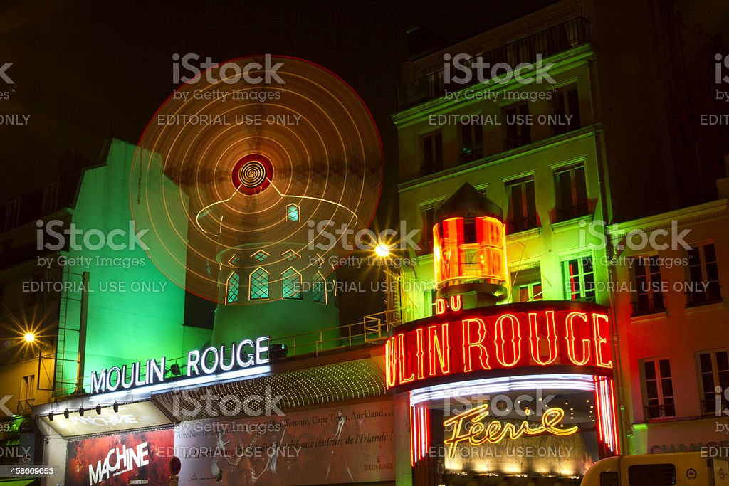 Moulin Rouge wraps in green royalty-free stock photo