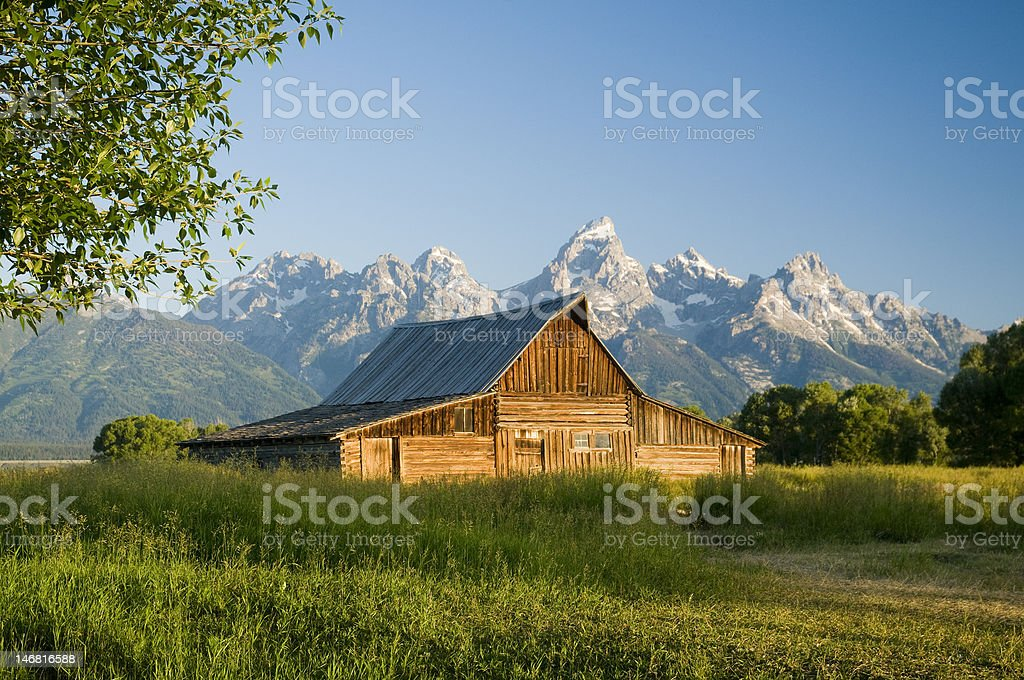 Moulton Barn stock photo