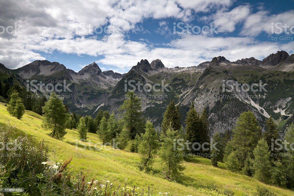 mounain landscape stock photo