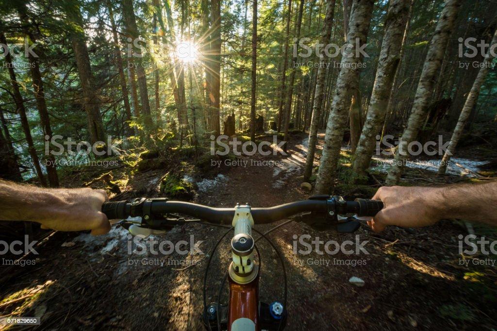 POV Mounatin Biking stock photo