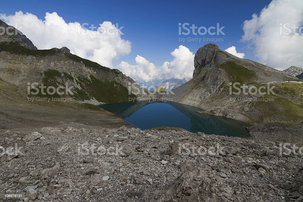 mounatin lake royalty-free stock photo