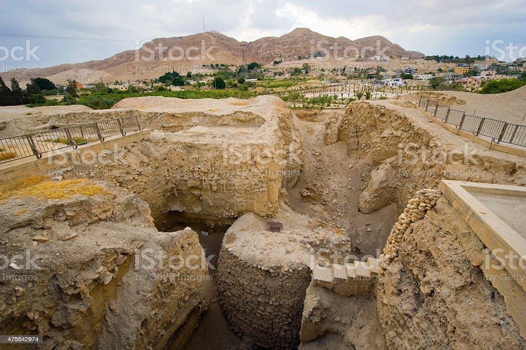 Mound Jericho stock photo