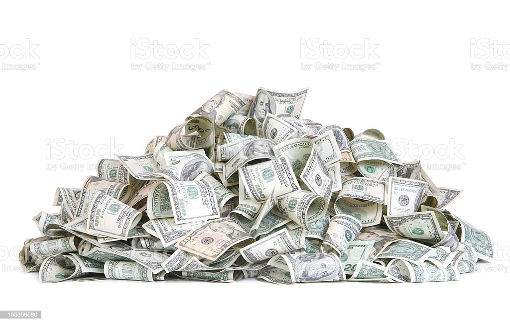 Mound of Cash stock photo