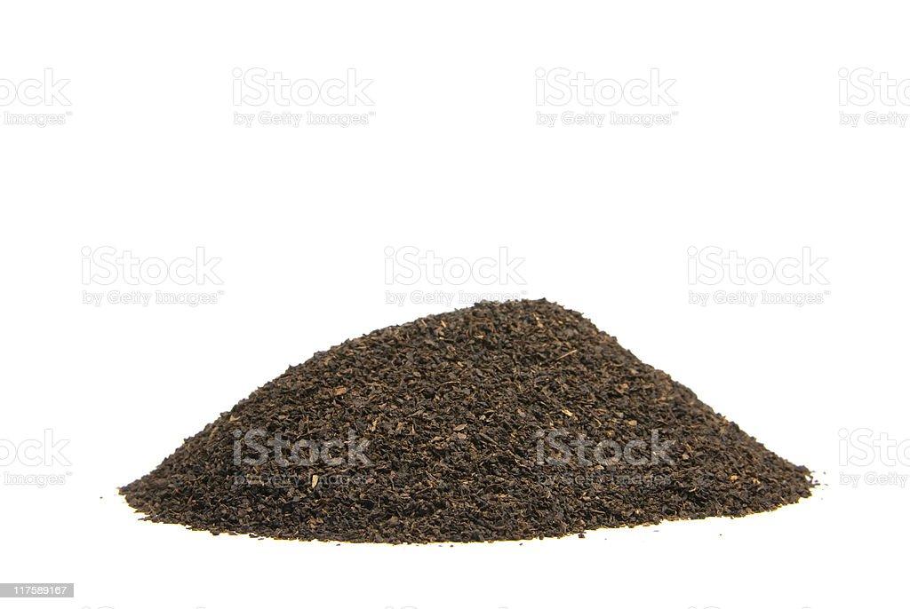 Mound of Loose Tea on a white background stock photo