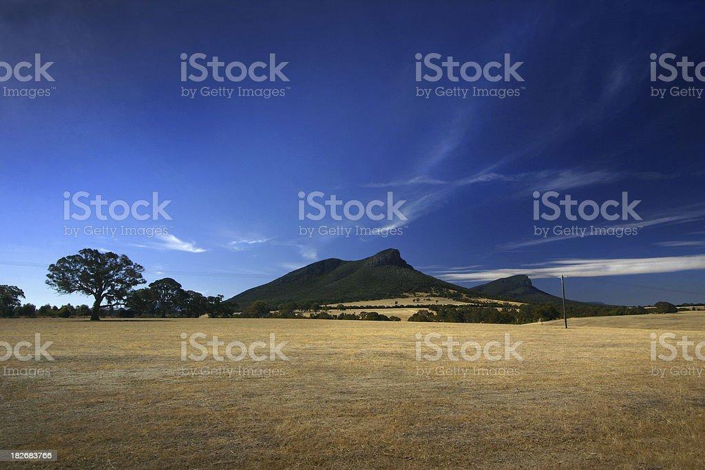 Mount Abrupt, Grampians stock photo