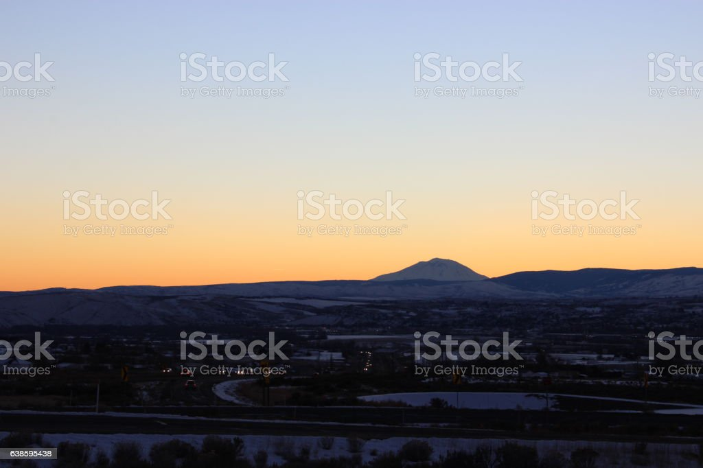Mount Adams at Dusk stock photo
