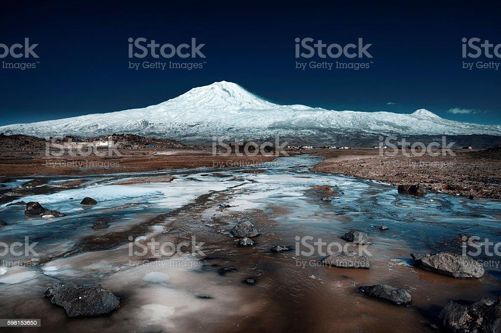 Mount Agri (Ararat), Turkey stock photo