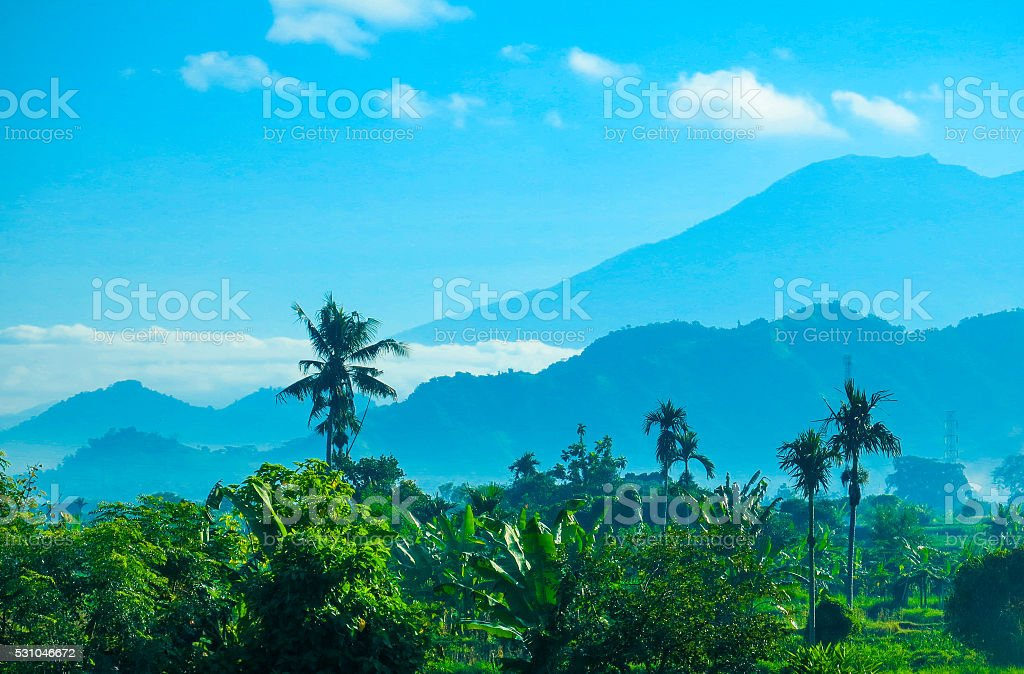 Mount Agung Volcano, Bali, Indonesia stock photo