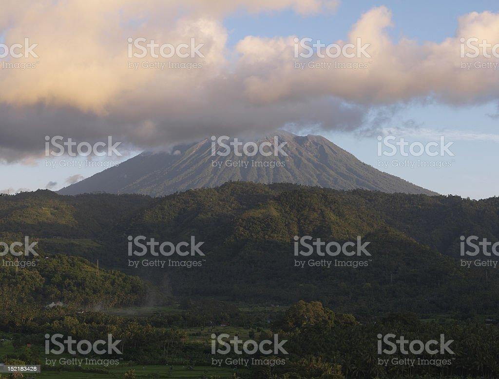 Mount Agung Volcano stock photo