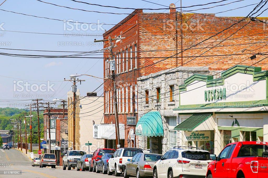 Mount Airy Franklin Street stock photo