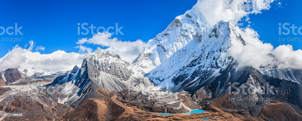Mount Ama Dablam - Himalaya Range stock photo