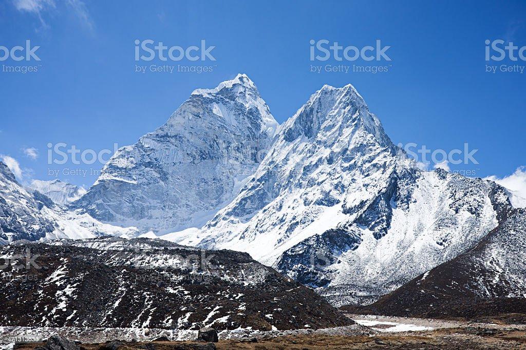 Mount Ama Dablam, Himalayas Mountains, Nepal stock photo