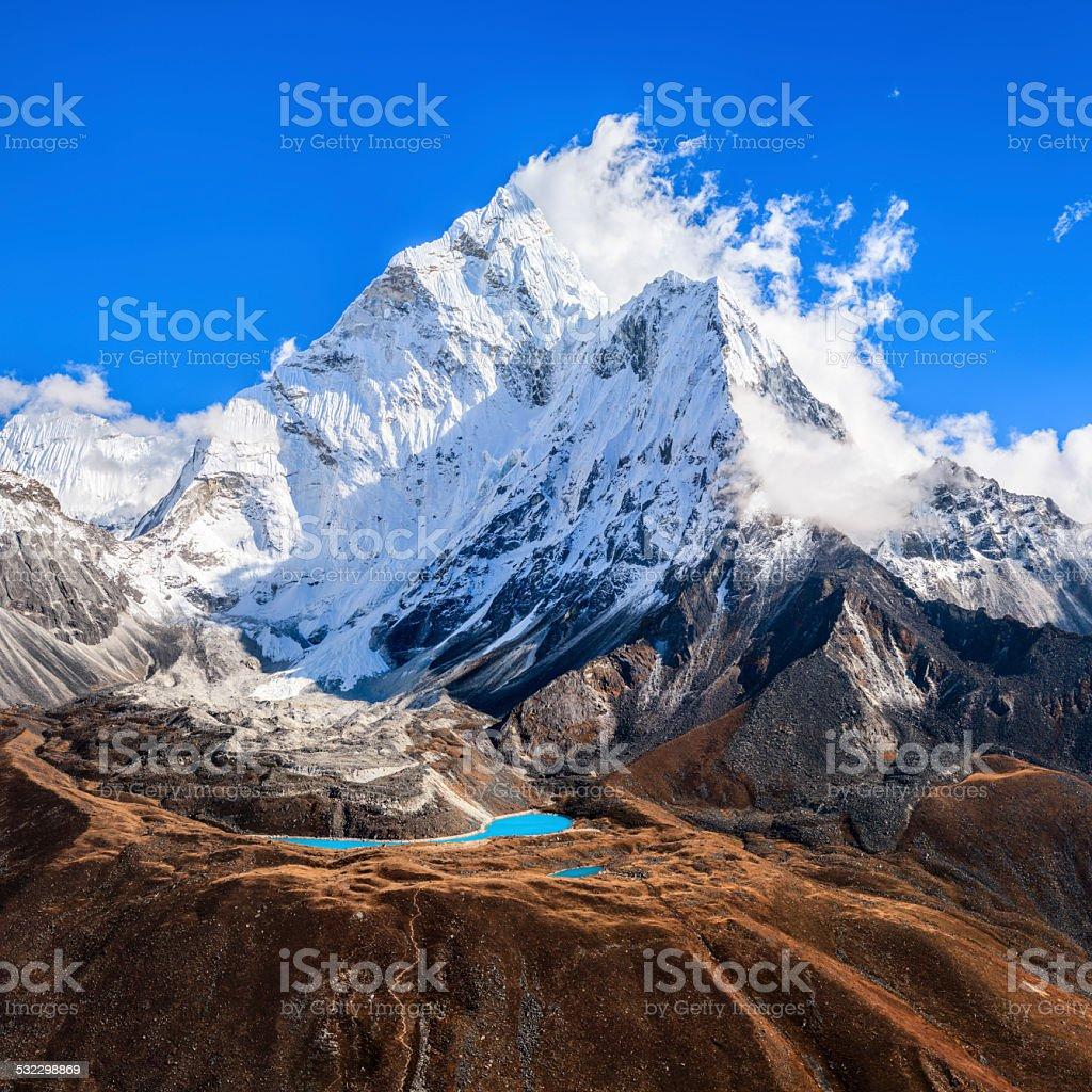 Mount Ama Dablam in Himalayas 79MPix - XXXXL size stock photo