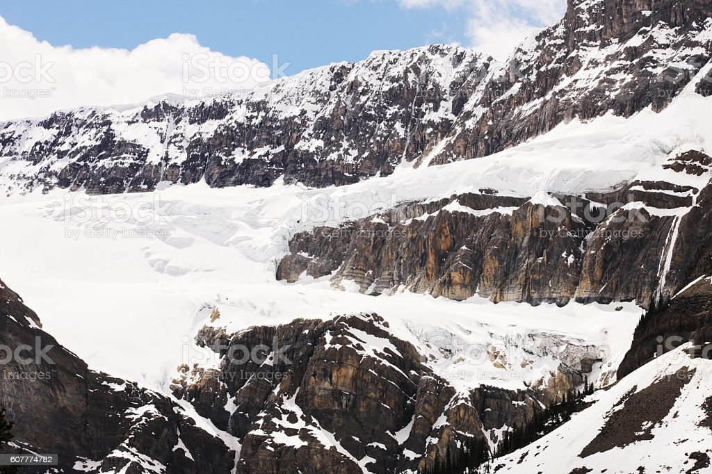 Mount Andromeda Athebasca Glacier Columbia Icefield stock photo