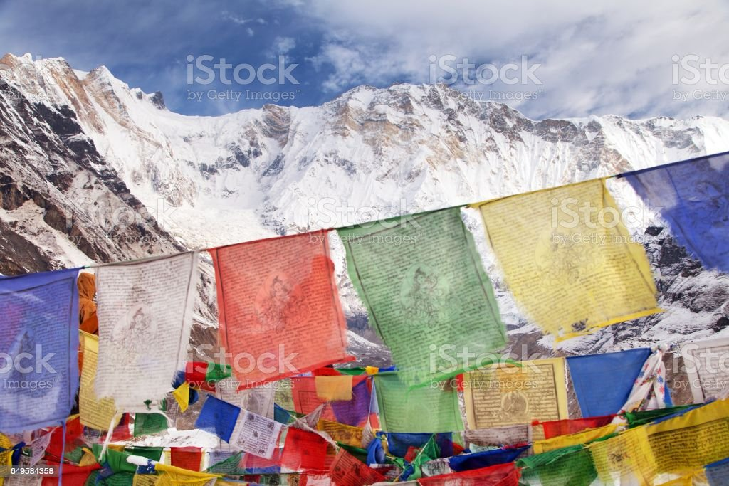 Mount Annapurna from Annapurna base camp, Nepal stock photo