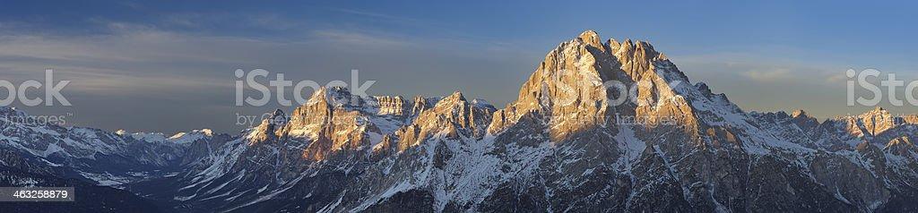 Monte Antelao Panorama stock photo