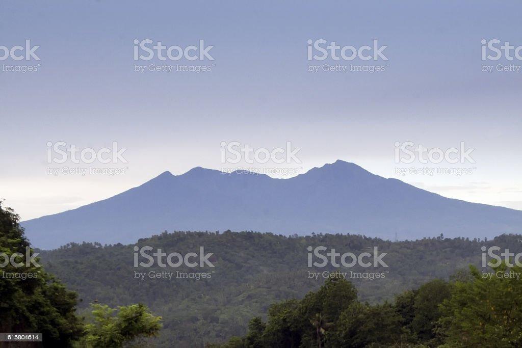 Mount Apo view, Davao, Philippines stock photo