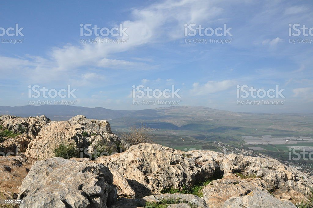 Mount Arbel Surroundings stock photo