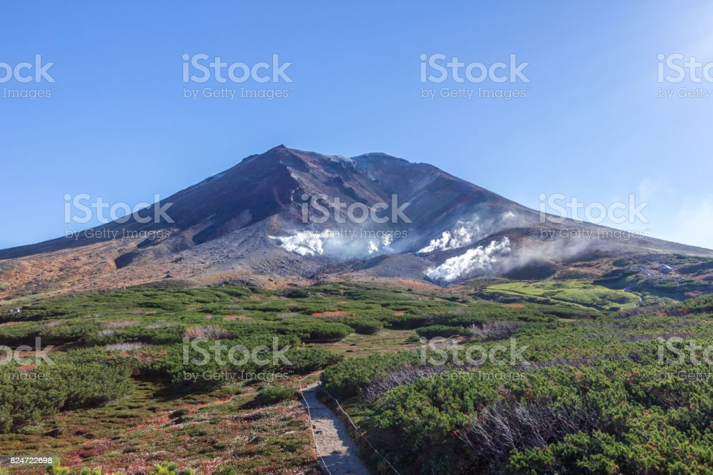 Mount Asahi stock photo