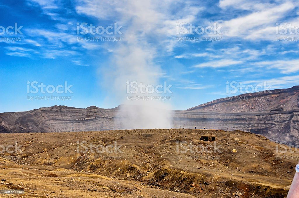 Mount Aso - Kumamoto , Japan royalty-free stock photo