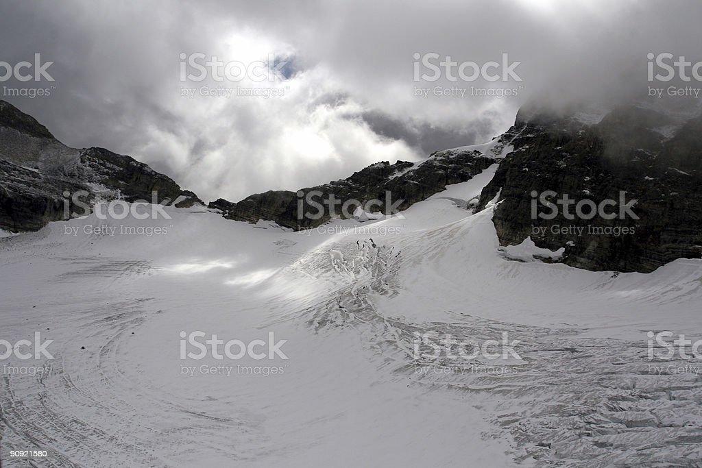 Mount Assiniboine Glacier stock photo