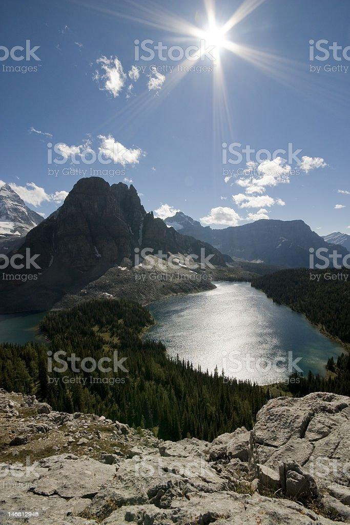 mount assiniboine provincial park stock photo