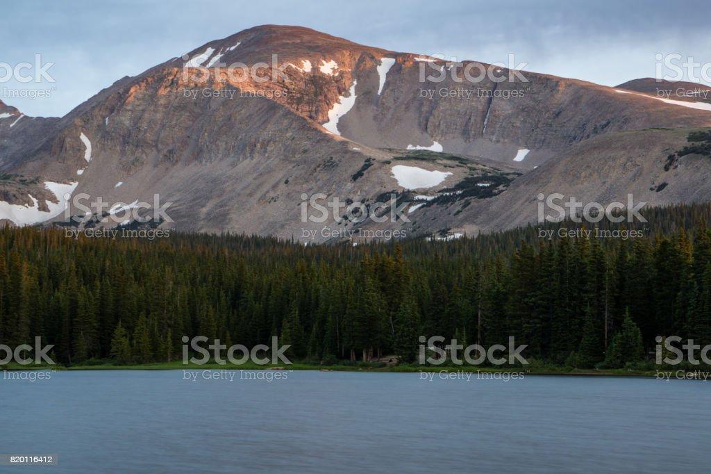 Mount Audubon Sunrise stock photo