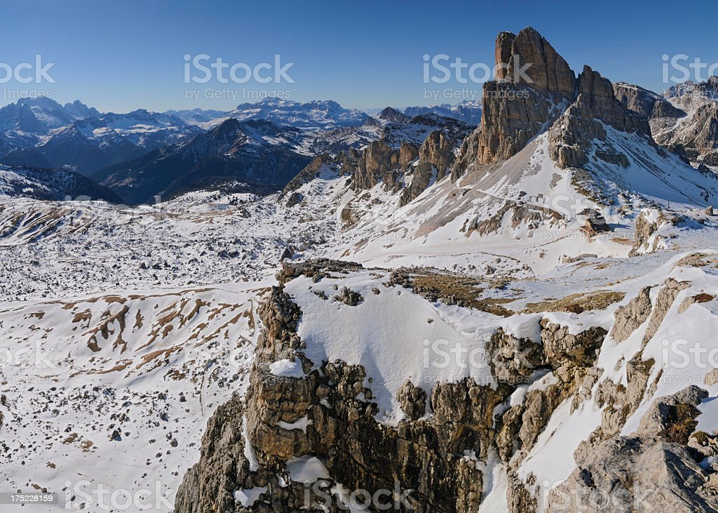 Mount Averau (Dolomites - Italy) stock photo