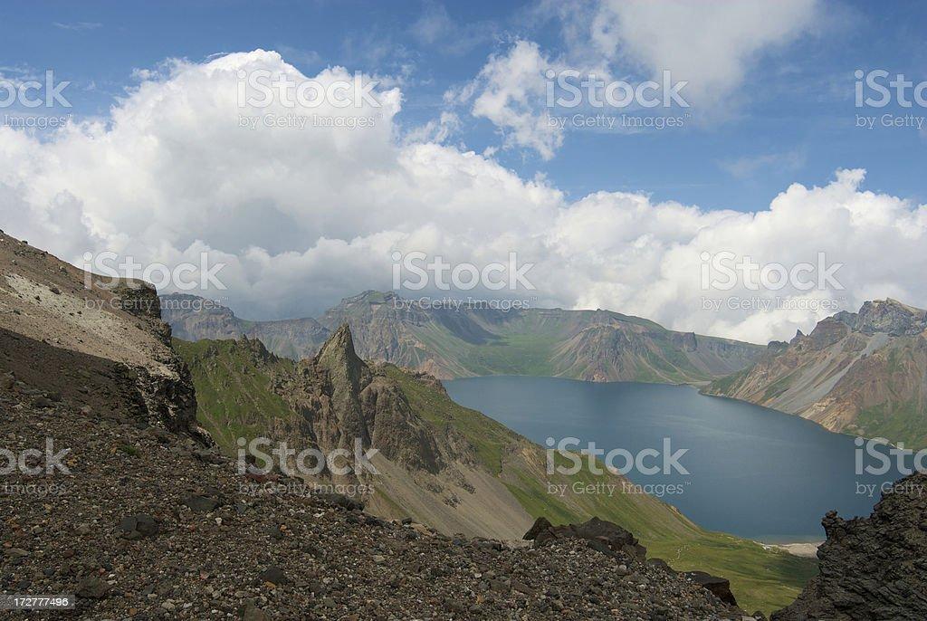 Mount Baekdu stock photo