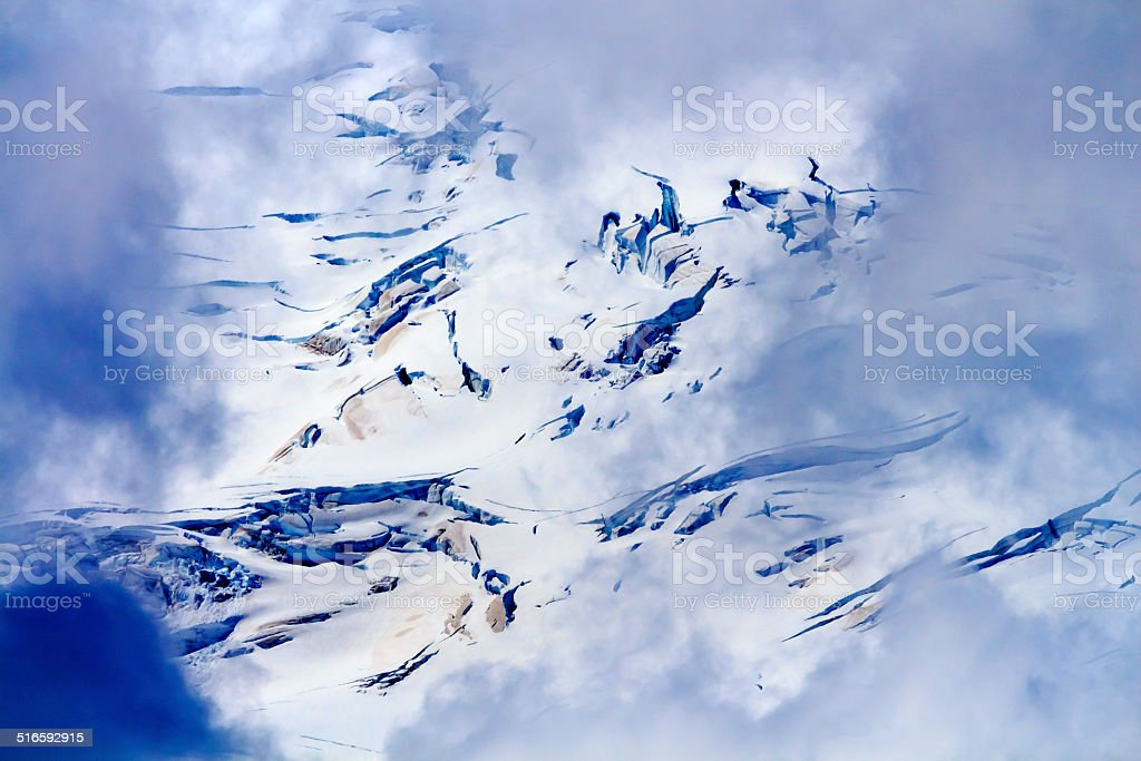 Mount Baker Glaciers Abstract Artist Point Washington stock photo