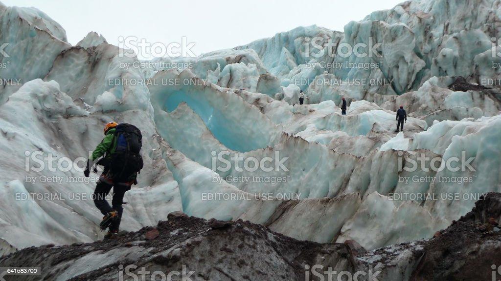Mount Baker Seracs stock photo